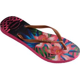 havaianas Slim Tropical Flips women rose